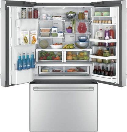 ge cafe series energy star  cu ft cyeushss counter depth french door refrigerator