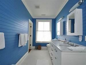 salle de bain coloree des exemples modernes With salle de bain bleu et blanc