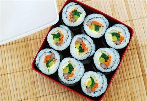 korean kimbap gimbap korean dried seaweed rice rolls korean bapsang