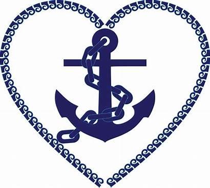 Nautical Heart Clipart Svg