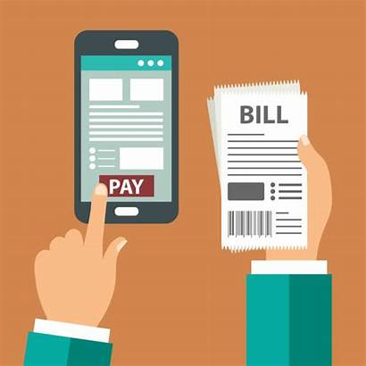 Bills Paying Pay Clip Payment Vector Illustrations