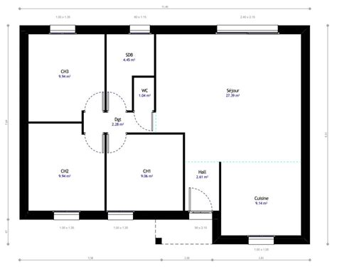 modèle plan maison 3 chambres plan de maison 3 chambres mod 232 le r 233 sidence picarde 08