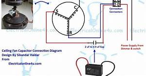 Learn How To Do Ceiling Fan Capacitor Wiring With Diagram