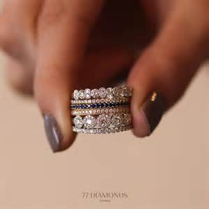 stacking birthstone rings stacked wedding bands with engagement ring pictures to pin