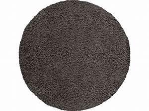 tapis salle de bain rond noir With conforama tapis rond