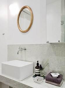 Badezimmer Fliesen Mosaik : badezimmer mit transparentem glas mosaik fliesen wohnideen einrichten ~ Sanjose-hotels-ca.com Haus und Dekorationen