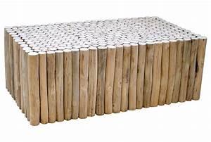 Rondin De Bois Table : table basse rondin en teck refuge grenier alpin ~ Teatrodelosmanantiales.com Idées de Décoration