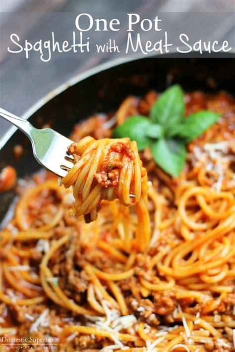 pot spaghetti  meat sauce keeprecipes