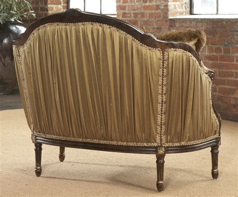 luxury settees shirred silk settee luxury home furnishings