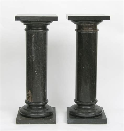 polished black marble nero marquina marble columns pillars