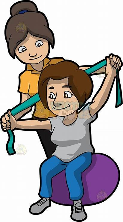 Physical Therapy Therapist Clipart Cartoon Patient Clip