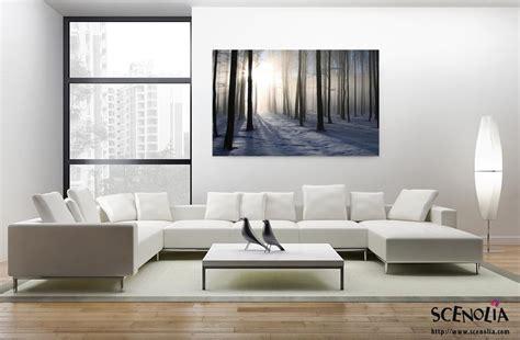 toile pour chambre foret d 39 hiver décoration murale tableau nature en hiver