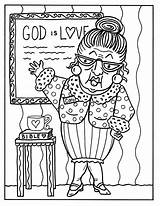 Coloring Adult Bible Study Church Ladies Wife sketch template