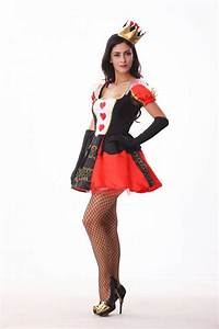 Halloween Costumes Adult Womens Red Queen of Hearts ...