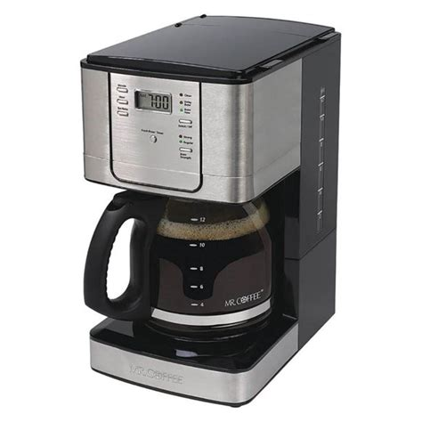 How about a dozen cups at a time? Mr. Coffee 12 Cup Programmable Coffee Maker with Auto Pause, Stainless Steel - Walmart.com ...