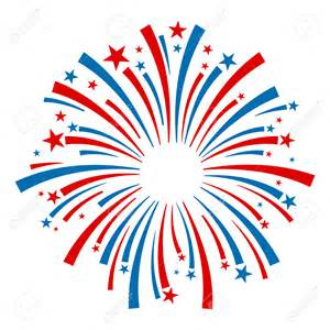 4th July Fireworks Clip Art Vector