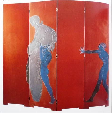 Eileen Gray Le by Eileen Gray Lacquered Wood Le Destin Screen 1914