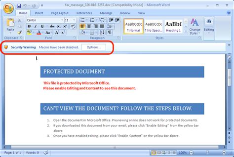 malicious spam  word document sans internet storm center