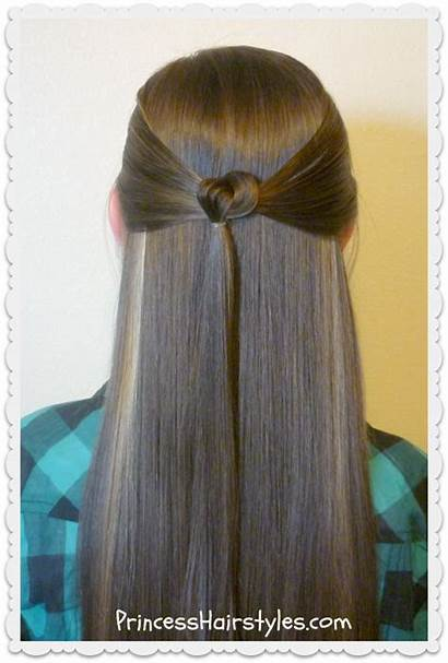 Hairstyles Easy Quick Tie Hairstyle Knotted Half