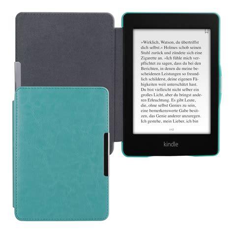 kindle blue light leather flip cover f kindle paperwhite 2 light blue