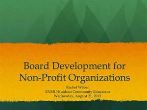Board development for non profit organizations