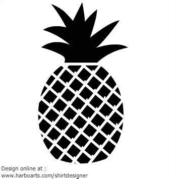 pineapple top silhouette juciy black pineapple printables graphics
