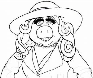How to Draw Miss Piggy from The Muppets Show and Movie in ...