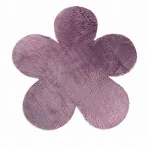 tapis enfant fleur mauve grise pilepoil ma chambramoi With tapis fleur bebe