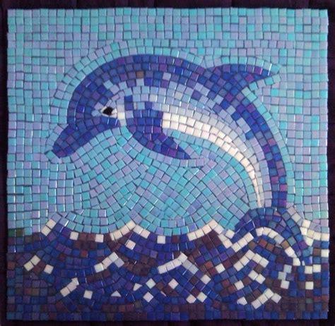 glass mosaic glass mosaic dolphins judit hollo interior design