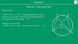 Angles In The Same Segment Of A Circle Are Equal  Theorem