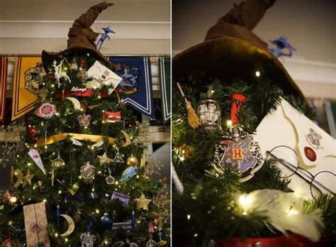 harry potter themed christmas tree this harry potter themed christmas tree is magical for potterheads