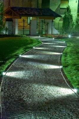 Strahlend Mit Bodeneinbaustrahlern Leuchtet Der Garten