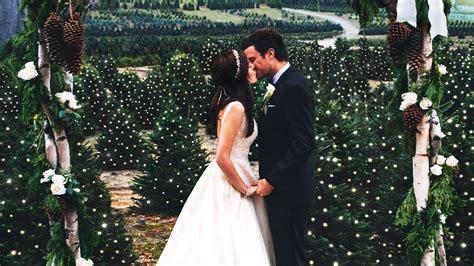 couple  christmas tree farm wedding  honor tradition