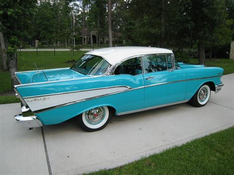 cars  chevrolet bel air   tropical turquoise