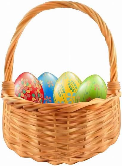 Easter Basket Clip Transparent Clipart Egg Baskets