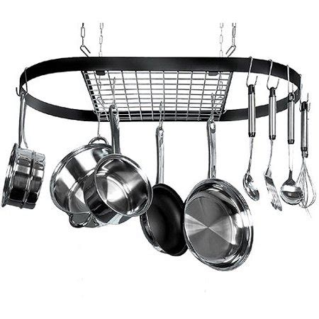 Ceiling Mount Pot Rack by Classicor 12 Hook Ceiling Mounted Pot Rack Iron Walmart