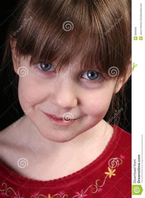 girl big blue eyes face stock photography image