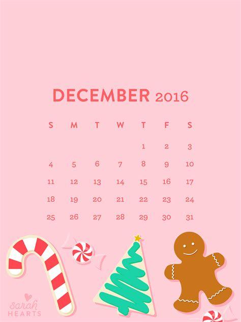 december  christmas cookie calendar wallpaper sarah