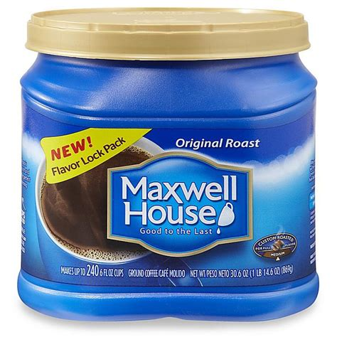 (dialectal, us, new york, eastern massachusetts, canada) coffee with cream and sugar (in contrast to the advertisement. Maxwell House® Regular Coffee S-19165 - Uline