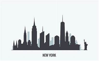 Skyline Silhouette York Vector Clipart Manhattan Vectors
