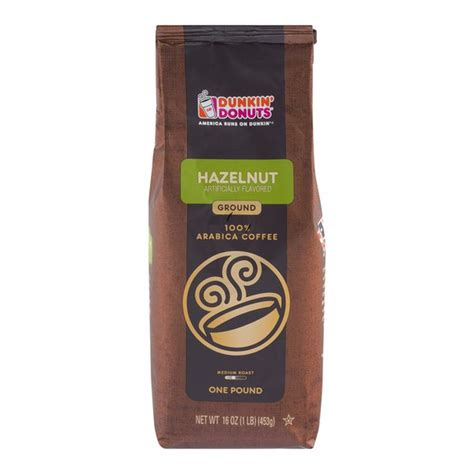 Dunkin donuts choose only premium beans and grind them right before delivery for the freshest taste possible. Dunkin' Donuts Hazelnut Ground Coffee (16 oz) from Stop & Shop - Instacart