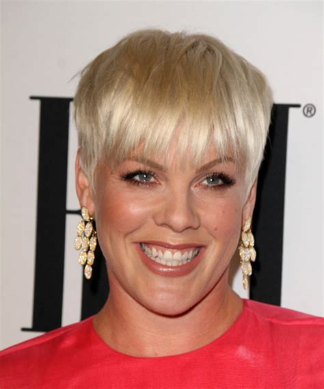 pink short straight casual layered pixie hairstyle