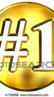 Stock Illustration of 3d golden number 1 concept k1755088 ...