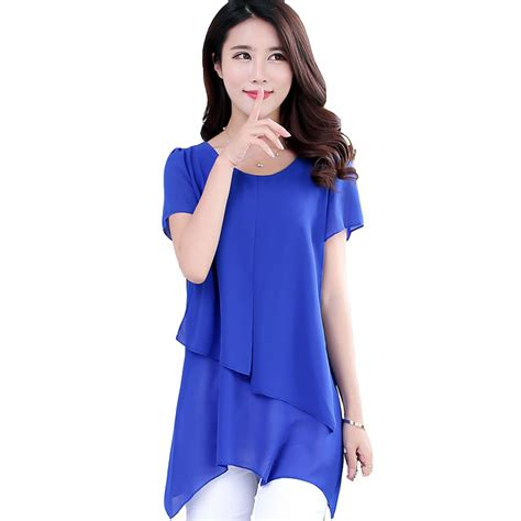 plus size chiffon blouse blouses summer 2016 fashion sleeve