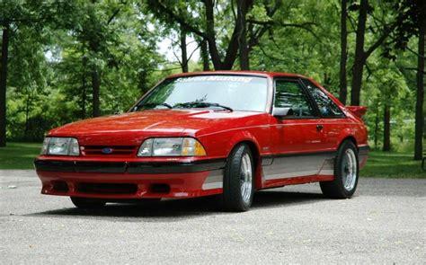 Scarlet Red 1988 Saleen Ford Mustang Hatchback