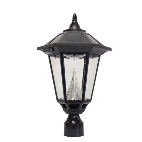 gama sonic eleven led solar light fixture on three
