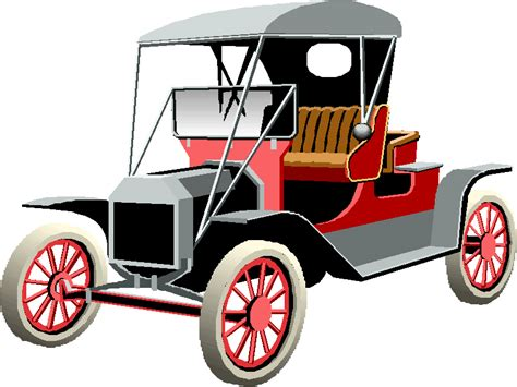 Pencil And In Color Classic Car Clipart