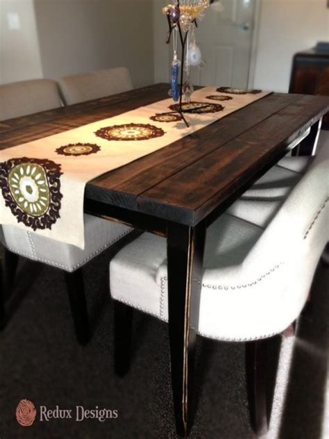 Refinished Dining Room Table   Contemporary   Dining Room