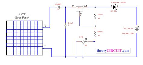 Solar Power Battery Charger Theorycircuit