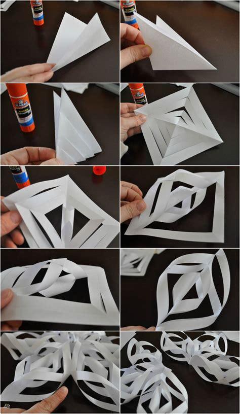 schneeflocken basteln papier weihnachtsdeko selber basteln aus papier mit anleitung